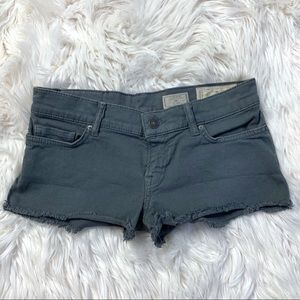 All Saints Gray Denim Lowe Low Rise Hot Pant